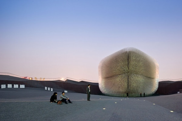 seed Cathedral pavillon expo Shangay