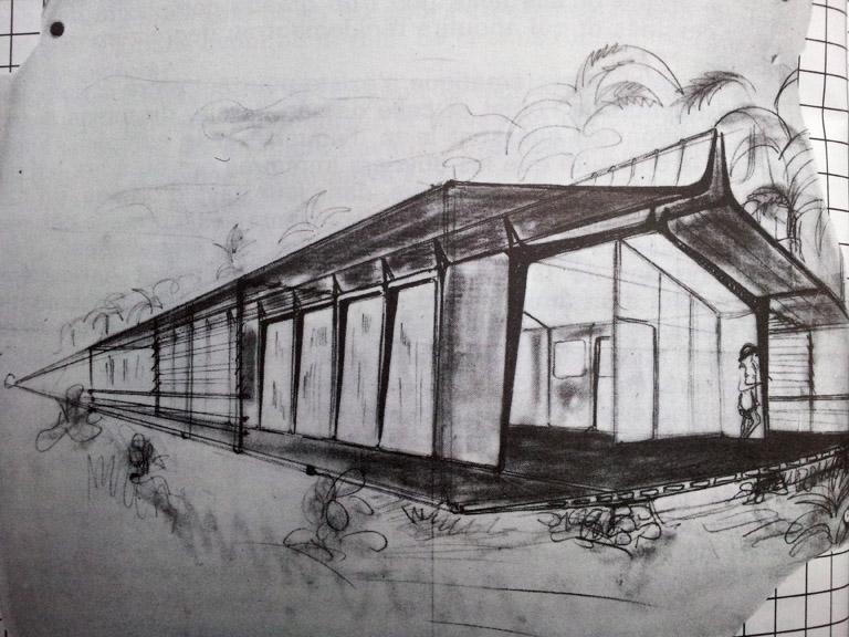 Carton dessin feuille6 sun trap blog d 39 architecture - Maison demontable jean prouve ...